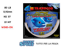 WIND-ON con FILO FLUOROCARBON XPS TRABUCCO LB 80  0,92mm  KG 37   MT 10 DRIFTING
