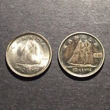 1937,1938 Canada 10 Cents