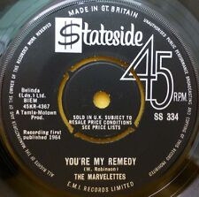 """THE MARVELLETTES YOU'RE MY REMEDY 45 STATESIDE 7"""" SS 334 UK NM 1964"""