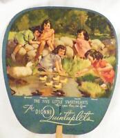 Vintage Dionne Quints Hand Fan Quintuplets 1936 Fritz's Store Sellersville PA
