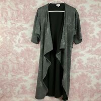 New Lularoe Shirley Kimono Silver Gray Size S Small Stretch Textured