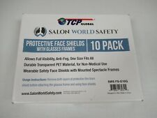 PROTECTIVE FACE SHEILDS WITH GLASSES FRAMES SEALED COVERS 10 PACK