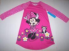 Nwt New Disney Minnie Mouse Nightgown Pajamas Polka Dot Pink Cute Nice Girl 9/10
