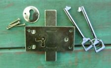 "Cabinet Furniture Lock w/ Keys Large 3"" x 1-1/2"" Surface Mount NEW"