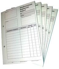 10x DIN A5 Stundennachweis 2x50 Bl. durchschreibend Regiebericht Rapport (22432)