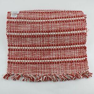 """Park Designs Peppermint Stripe Table Runner 13 x 54"""" Red White Christmas Return"""