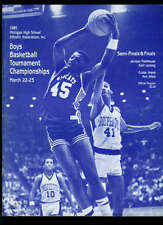 Michigan High School Basketball Championship Program 1986