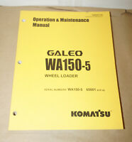 Komatsu Galeo WA150-5 Wheel Loader Operation & Maintenance Manual TEN00077-00