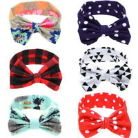 Newborn Kids Headband Cotton Elastic Baby Print Floral Hair Band Girls Bow-knot