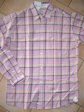 (337) Cooles Joe Black Boys langarm Hemd rosa kariert Freizeithemd gr.128