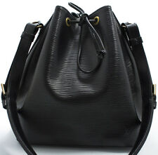Louis Vuitton RARE EPI Petit Noe bag borsa elegante BLACK NERO SHOULDER BAG 2