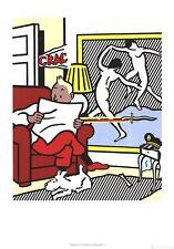 Tintin Reading, 1995 by Roy Lichtenstein Art Print Original Exhibition Poster