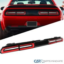 For 08-14 Dodge Challenger Red/Clear Rear LED Sequential Turn Signal Tail Lights