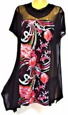 plus sz M / 18-20 TS TAKING SHAPE Nights In Bloom Tunic sheer layer NWT rrp$150!