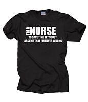 Gift For Nurse T-Shirt Profession Occupation Tee Shirt RN NCLEX Birthday Gift