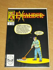 EXCALIBUR #4 VOL 1 MARVEL CAPTAIN BRITAIN JANUARY 1989