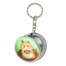 Hamster Eating Stash of Food Portable Travel Ashtray Keychain
