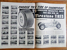 1952 Firestone Tire Ad 29 Consecutive Indy 500 Races won on Firestone Tires