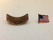 '03 Harley Davidson 20yrs of H.O.G. Pin w/ USA FLag For Rocker Hats/Jackets/Vest