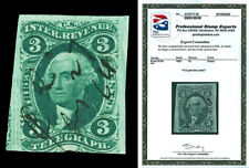 Scott R19a 1862 3c First Issue Revenue Used Fine Cat $100 with PSE CERTIFICATE