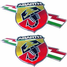 Fiat 500 Grande Punto Abarth Side Badge Emblems Pair x 2 New + Genuine 735495888