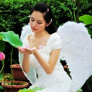 Large White Feather Angel Wings Adult Fairy Angel Wings Fancy Costume Christmas