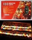 VINTAGE 90'S CHRISTMAS 100 TREE STRING LIGHTS DIAMOND REFLECTORS INDOOR NEW NOS!