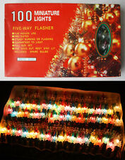 RARE VINTAGE 90'S CHRISTMAS 100 MINIATURE TREE LIGHTS INDOOR CHINA NEW NOS !