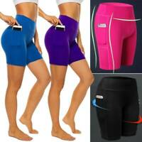 Women Booty Push Up Yoga Shorts Compression Hot Pants Sport Gym Fitness Run S01