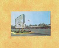 NY Albany 1950-60s era postcard DELAWARE PLAZA HARDWARE & LITTLE FOLKS SIGN