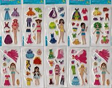 Fashion 10 sheets of stickers girls party loot bag fillers clothes changing cute