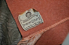 American Woolen Co 1930s Rose Pink Wool Blanket Vtg Craft Cutter Camp 79x67 damg