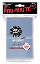 Ultra Pro Deck Protector Sleeves x100 - Pro Matte - Clear