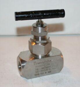 "1/2"" FNPT 316ss Union Bonnet Needle Valve (10,000 Psi) Swagelok SS-6HNBF8"