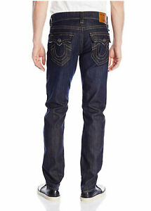 True Religion Men's Geno Relaxed Slim Big & Tall Jeans (Wanted Man, 46)