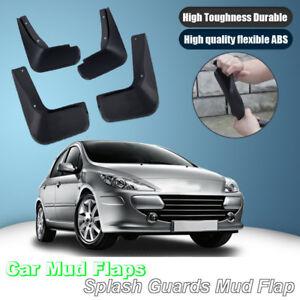For Peugeot 307 Hatchback Splash Guards Mud Flap Front Rear Mudguards Fender