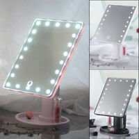 22 LED Touch Screen Tabletop Cosmetic Vanity light up Mirror gift Makeup Mirror