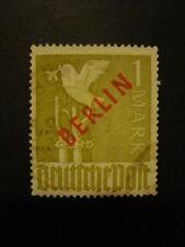 BERLINO 1949 FRANCOBOLLO N. 17B USATO FIRMATO SCHLEGEL BPP VAL. CAT.  € 650,00