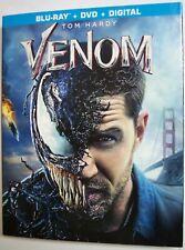 Venom (Blu-ray, DVD, 2018, Digital, w/Slipcover) NEW