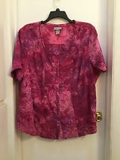 Liz & Me ladies top, size 2X, Beautiful, sheer, pinks,  lavenders, pinks !! NWOT