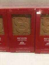 3 X Revlon DNA Advantage Pressed Powder Compact, Deep #25 NEW.