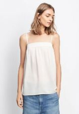 Vince (M Medium) Gesso Ivory Silk Embroidered Tank Top Blouse Cami - $225