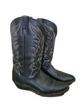 Laredo 5740: Women 7 1/2 Kadi Black Leather Foot Cowgirl R Toe Western Boot