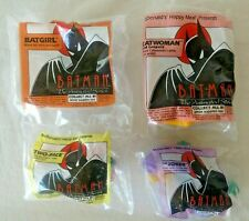BATMAN THE ANIMATED SERIES MCDONALDS HAPPY MEAL SET OF 4 BATGIRL DC COMICS 1993