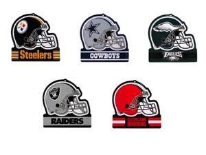 NFL Embossed Metal Football Helmet Tin Sign Man Cave Pub Wall Decor