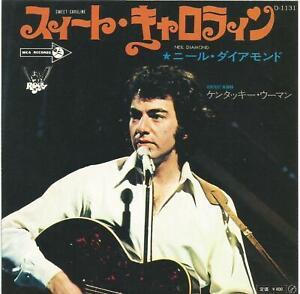 Neil Diamond - Sweet Caroline Japan 7 inch vinyl single with poster insert