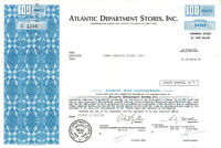 Atlantic Department Stores Inc > 1971 New York old blue stock certificate share