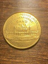 Belgique Exposition Universelle de Gand 1913 Jeton souvenir