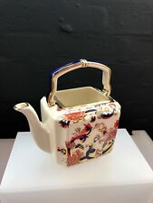 "Masons Ironstone Blue Mandalay Small Handled Teapot 5.5"" to Top of Handle"