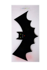 8 Halloween Hanging Bat party paper Decorations black